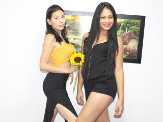 TaraAndLuisa naked striptease